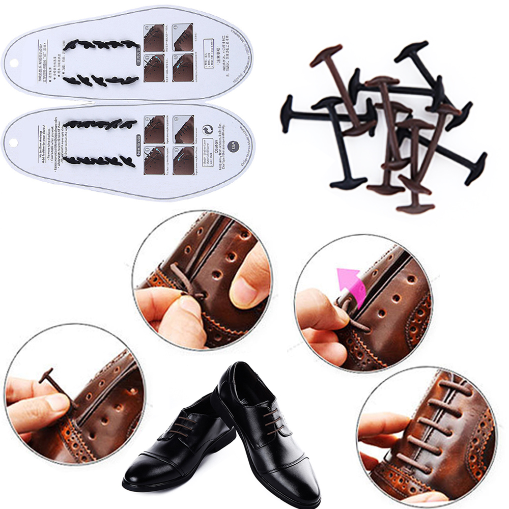 10pcsSet-No-To-Tie-Shoelaces-New-Novelty-Elastic-Silicone-Leather-Shoe-Laces-For-Men-Women-All-Fit-Strap-Business-Shoes-4
