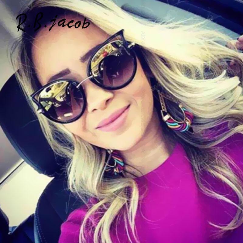 Fashion Cat Eye Women Classic Brand Desinger Hollow Frame Mirror Sunglasses Vintage Wrap Female Shades Oculos de sol