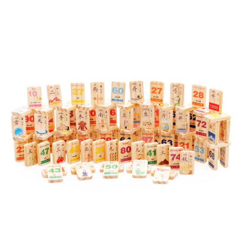 1 Set Holz Domino Spiel Spielen Spielzeug Chinesischen Charakter Zahlen Montessori Pädagogisches Baby Spielzeug Online Shop