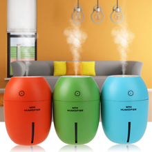 New Design DC5V 180ML Mini USB Lemon Ultrasonic Humidifier With LED Light Home Decoration Mist Maker for Office Car