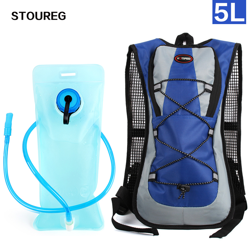 5L Hydration Backpack, Camping Hiking Water Bag, Riding Cycling Backpack, Nylon Water Bladder Bag For Cycling 5 Colors