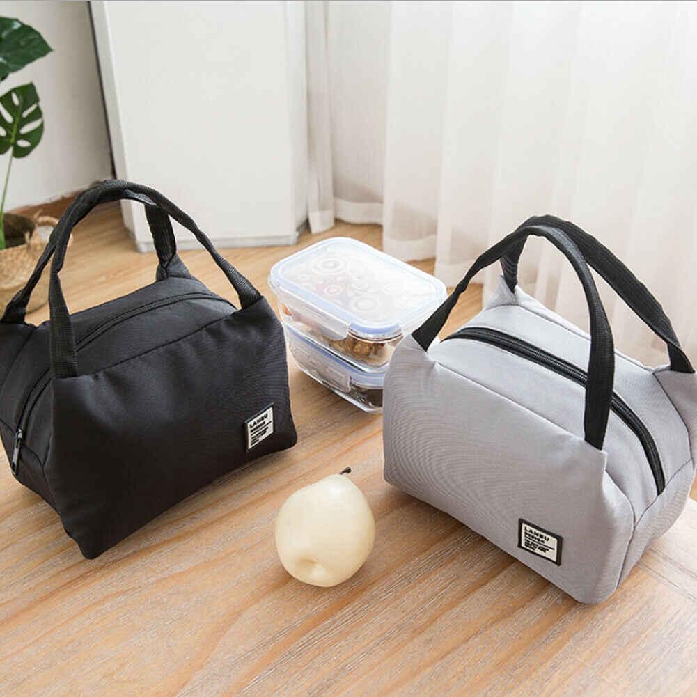 2019 Mais Novo Saco do Almoço para As Mulheres Homens Quente Térmica Duplas Lunch Box Térmica Tote Piquenique Saco do Alimento de Alta Qualidade À Prova D' Água saco