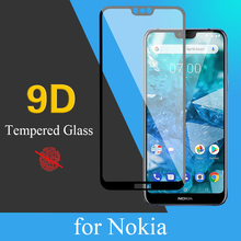 9D protective glass for Nokia 1 X7 X3 screen protector Ultra-thin Easy to scratch-resistant tempered film