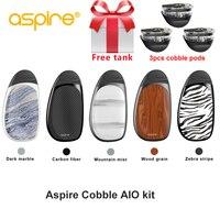 Free gift Original Aspire cobble pod kit newest aspire aio vape pod system kit with 700mAh battery 1.8ml cartridge pod vape