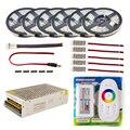LED Strip set 5 m 10 m 20 m 30 m 110 v/220 v naar 12 v RGB RGBW Waterdichte 5050 Flexibele 300led diode tape LED Touw Linten Versterker Kit