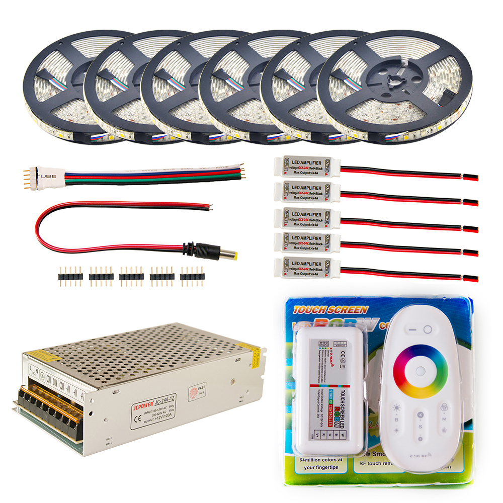 LED Strip set 5m 10m 20m 30m 110v/220v to 12V RGB RGBW Waterproof 5050 Flexible 300led diode tape LED Rope Ribbons Amplifier KitLED Strip set 5m 10m 20m 30m 110v/220v to 12V RGB RGBW Waterproof 5050 Flexible 300led diode tape LED Rope Ribbons Amplifier Kit