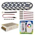 Tira de LED 5 m 10 M 20 M 30 m 110 V/220 V a 12 V RGB RGBW impermeable 5050 300led de cinta cuerda LED cintas Kit amplificador