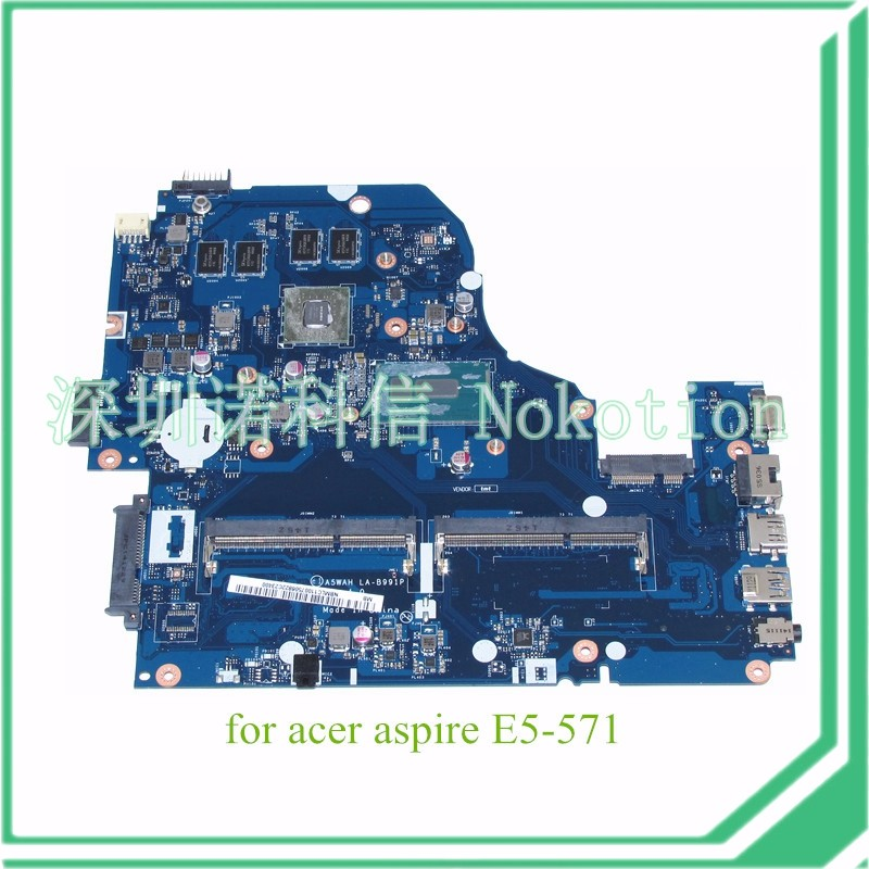 laptop motherboard for Acer aspire E5-571 NVIDIA GeForce GT 840M I5-5200U CPU DDR3 A5WAH LA-B991P NBMLC11007 NB.MLC11.007