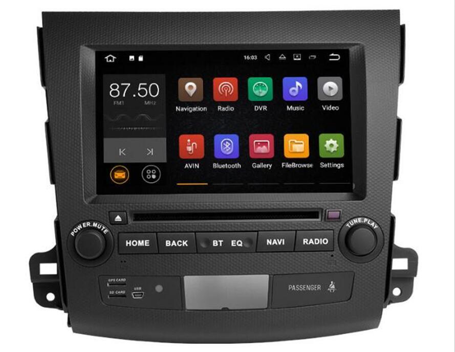 2 DIN Android 8.1 Autoradio Lecteur DVD GPS Pour Mitsubishi Outlander 2006 2007 2008 2009 2010 2011 2012 pour peugeot 4007 Audio