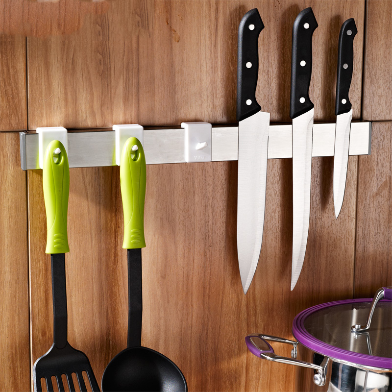 Multi-fonction porte-couteau crochet magnétique sans clou puissant cuisine tenture murale forte crochets magnétiques