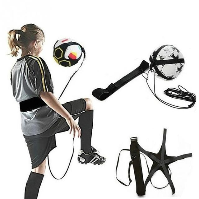 כדורגל אימון ספורט סיוע מתכוונן כדורגל מאמן כדורגל כדור עיסוק חגורת אימון ציוד בעיטה