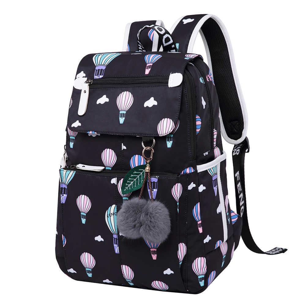 8774a463e 2018 New Emoji Floral Women Backpack Fashion Best Travel Work Laptop  Backpacks Female White Black Color