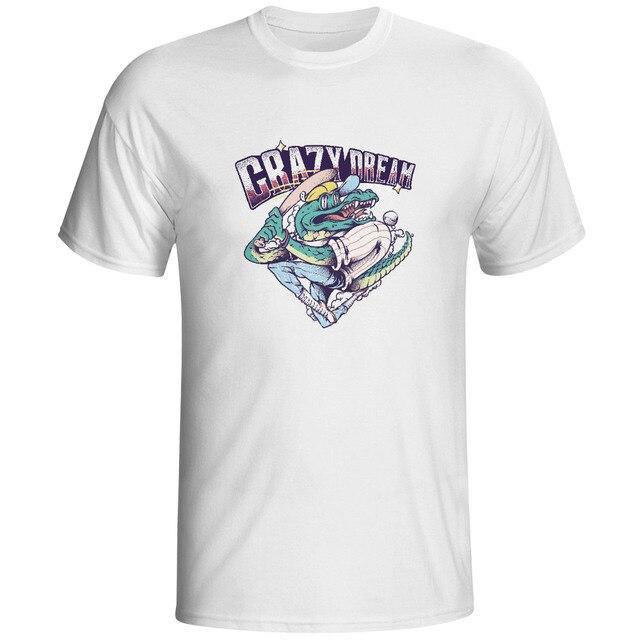 Crocodile Has A Crazy Dream T shirt 2017 Skate Cool Brand Printed ...
