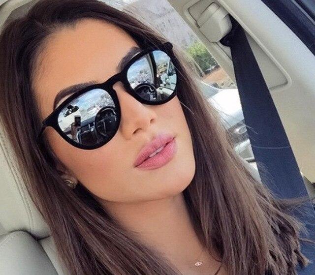 Retro Sunglasses Women Men 2018 Brand Designer Round Sun Glasses Mirror lens for Man Lady Male Sunglasses Oculos De Sol Eyewear 1