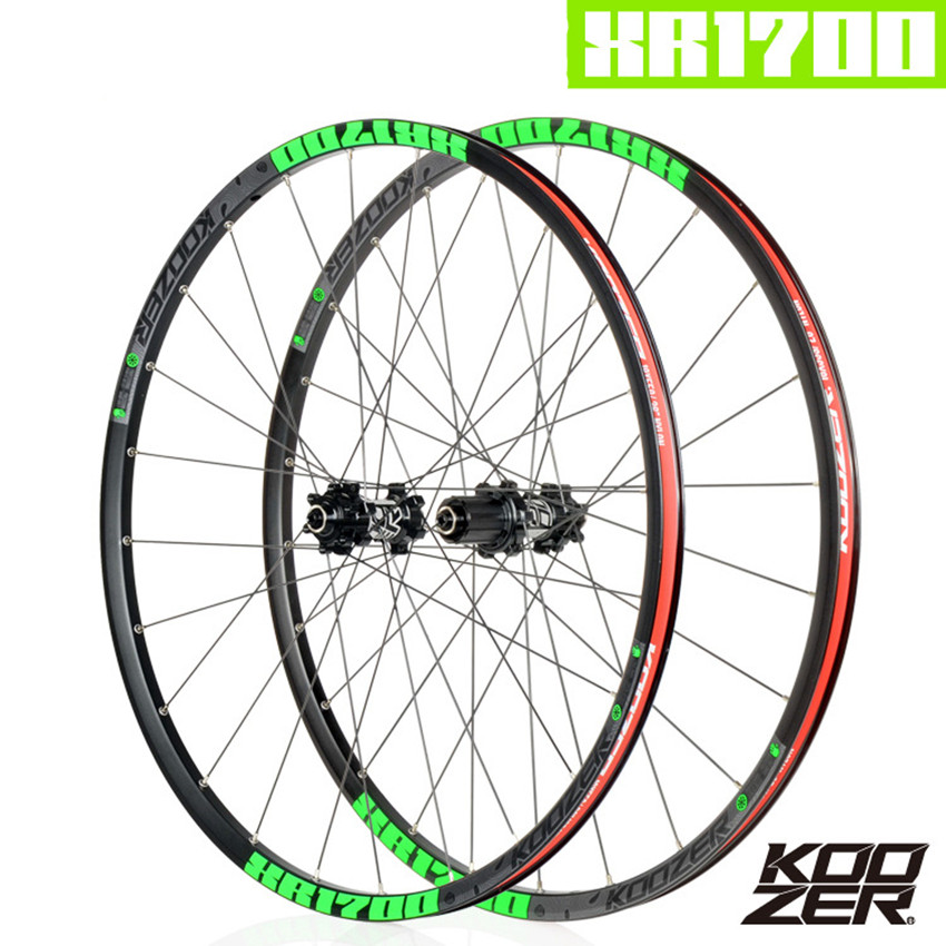 KOOZER XR1700 MTB 72 Clicks DT <font><b>Spokes</b></font> 24 Hole <font><b>6</b></font> Claw Mountain <font><b>Bike</b></font> 4 Bearing Wheelset 26 27.5inch QR Thru-axis Bicycle <font><b>Wheels</b></font> image
