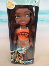 one fashion doll 6 Inch Action Figures Girls gifts Movie Princess Moana Doll Pendant Anime Collection Moana Figures Toys in box(China)