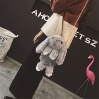 NEW Anime Feign Death Rabbit Plush Doll Toy Backpack Student Bag Kids Gift