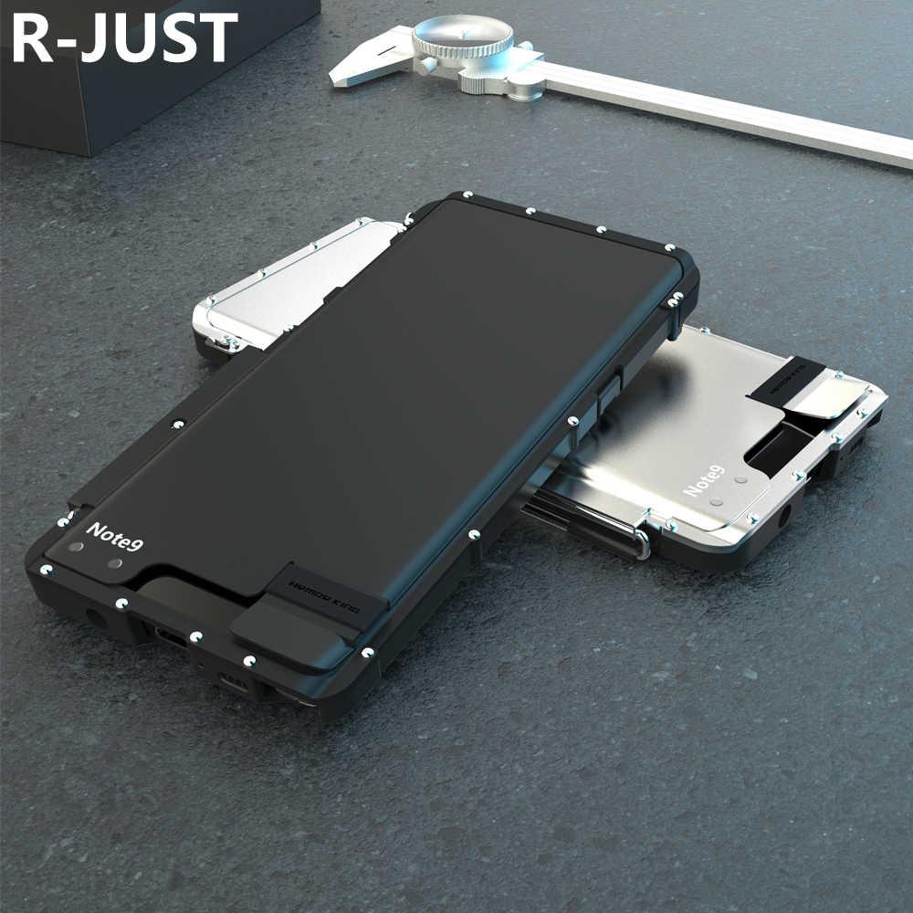 Броня Король из нержавеющей стали металлический флип чехол для samsung Galaxy Note 9 противоударный чехол для samsung Note 9 чехол Рос