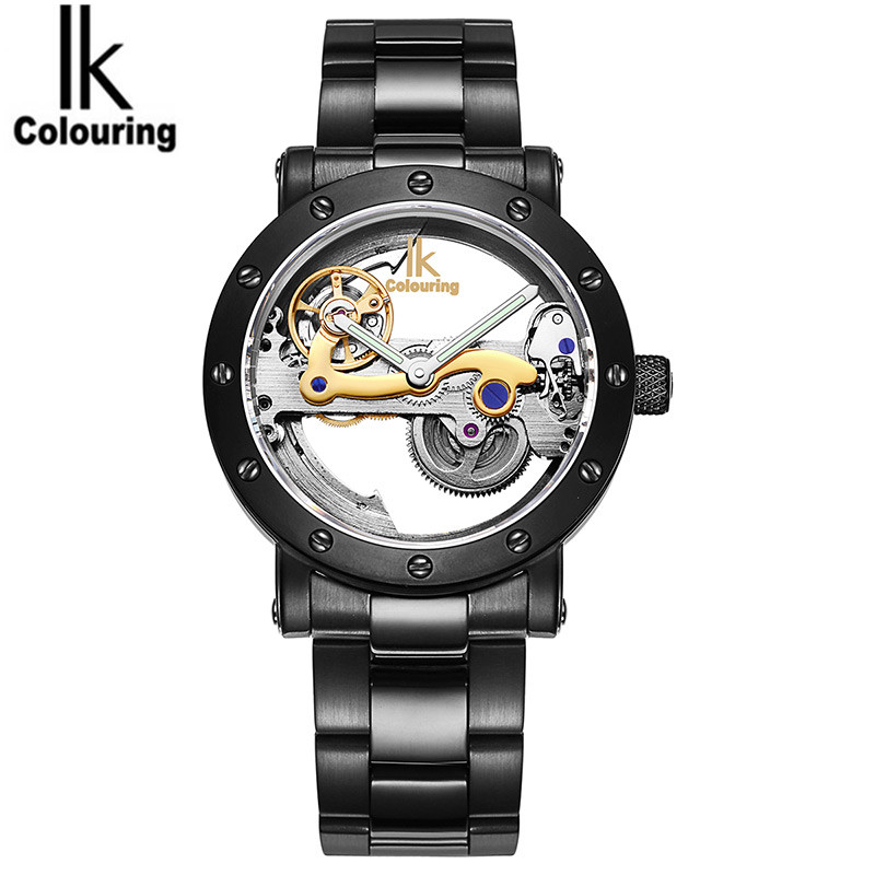2017 Luxury Retro Orologio Uomo Men's Skeleton Auto Mechanical Waterproof Wristwatch Original Box Free Ship  original mg orkina orologio uomo luxury day flywheel automatic mechanical watch wristwatch gift box free ship