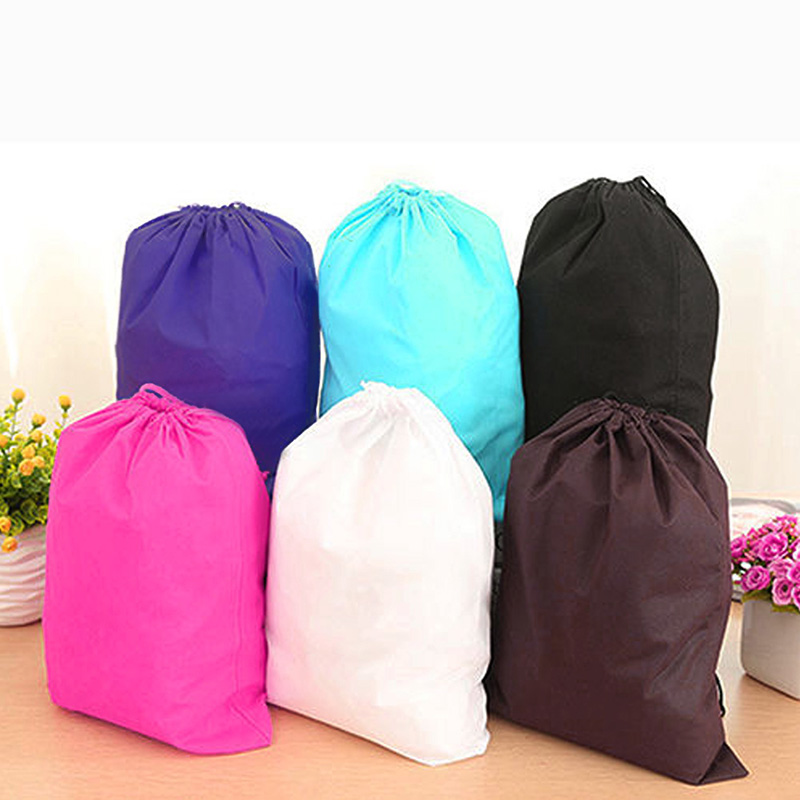 2018 Thick Non-Woven Laundry Shoe Travel Pouch Storage Portable Tote Drawstring Storage Bag Organizer