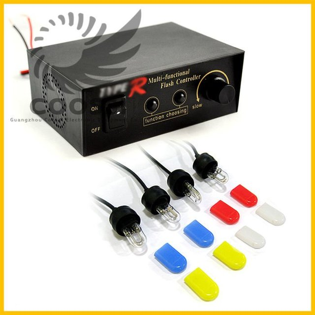 Wholesale auto xenon flash 4 Xenon Car Strobe Light Headlight Controller Box car strobe box light [CP88]