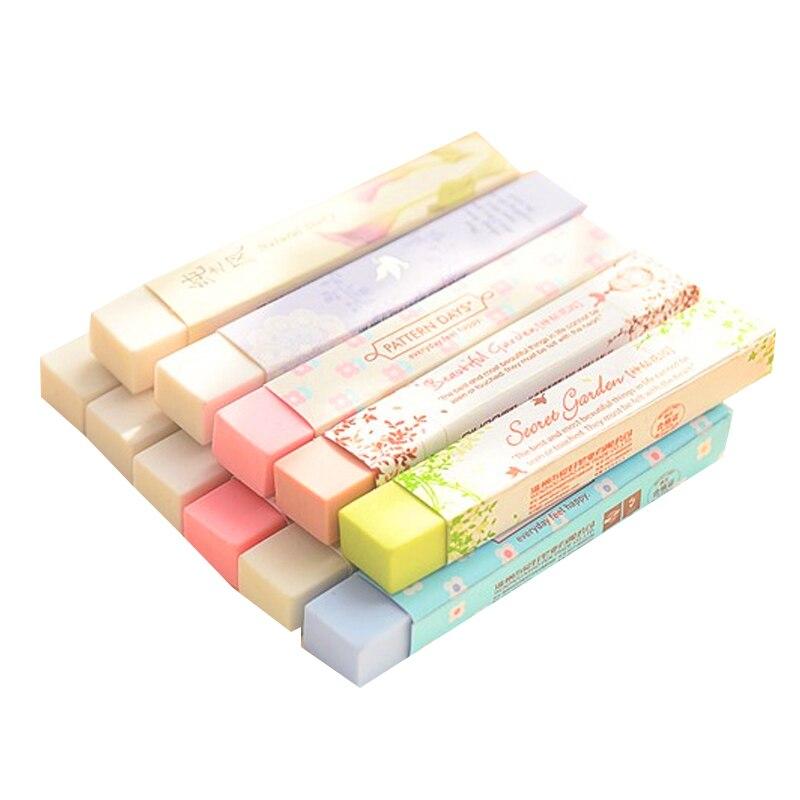2 Pcs/lot Cube Pencial Eraser Cute Kawaii School Supplies