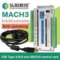 3/4/6 оси Mach3 контрольная карта USB для ЧПУ система управления, английская версия хорошего качества