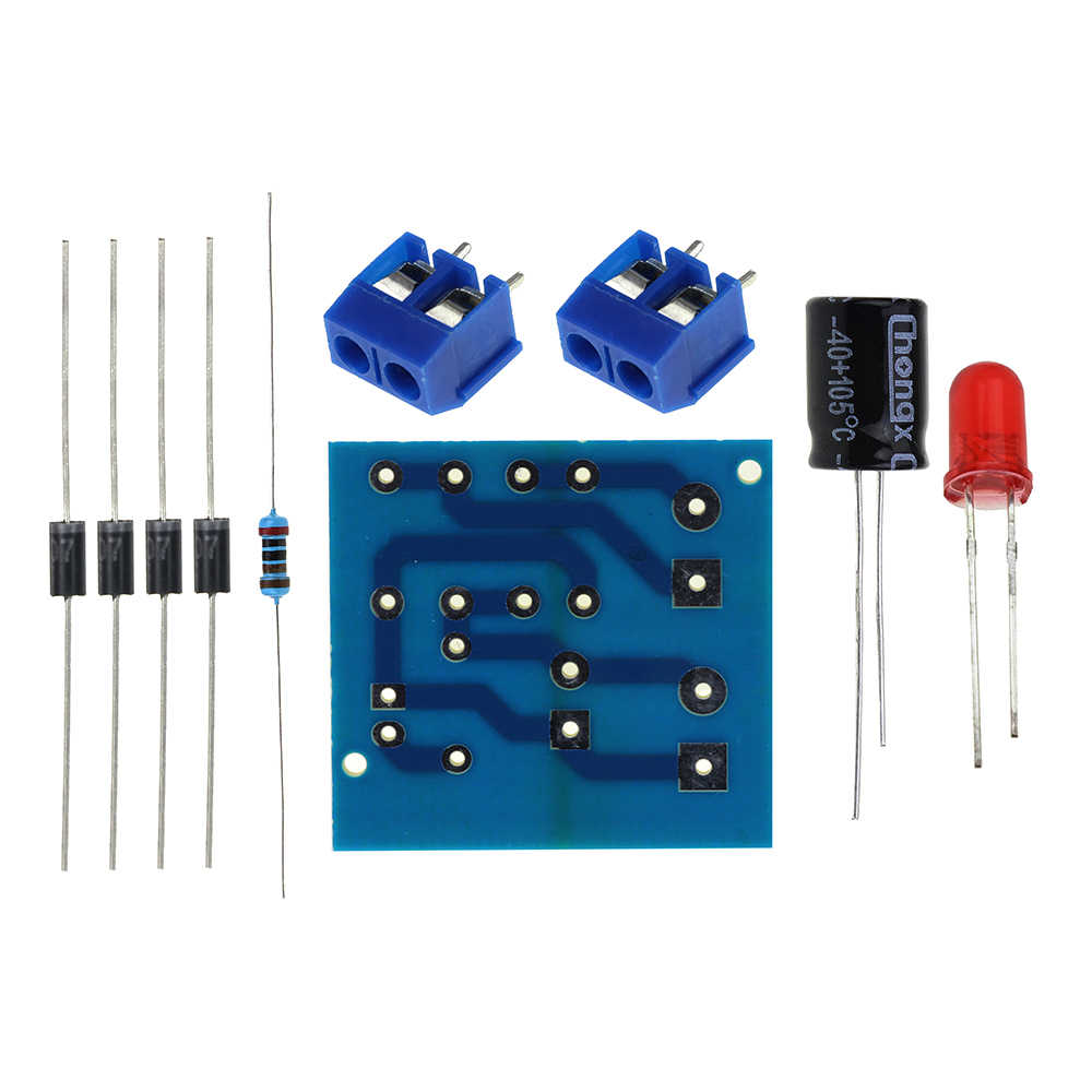 Detail Feedback Questions About Diy Kit In4007 Bridge Rectifier Ac Full Wave Circuit Dc Converter Board Parts Electronic