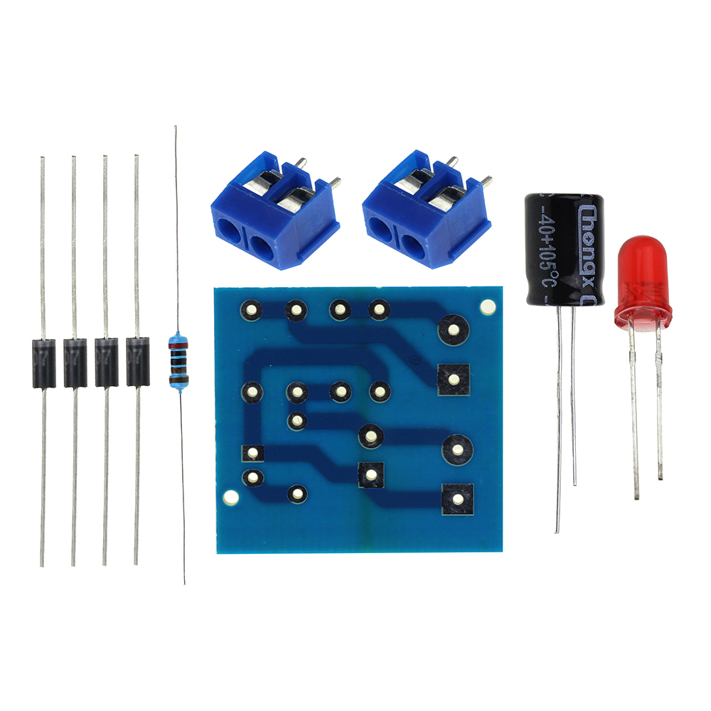 Diy Kit IN4007 мост выпрямителя AC DC преобразователь полный выпрямитель платы комплект Запчасти электронные люкс