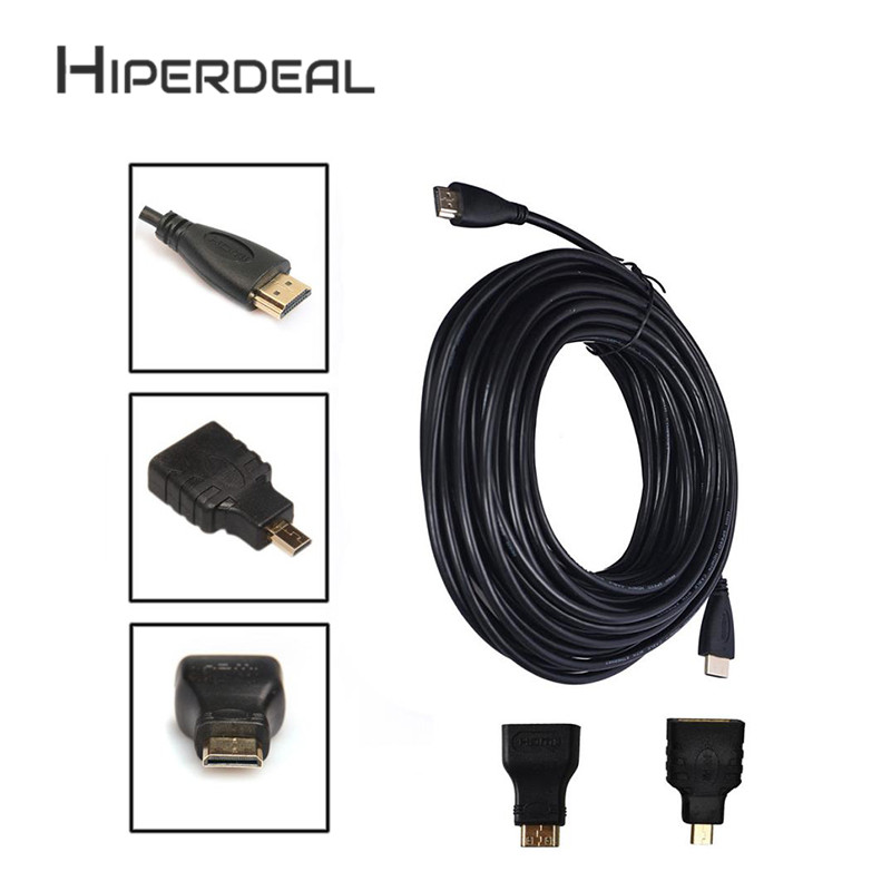 HIPERDESL 3in1 HDMI to HDMI/Mini/Micro HDMI Adaptor Cable Kit HD for ...