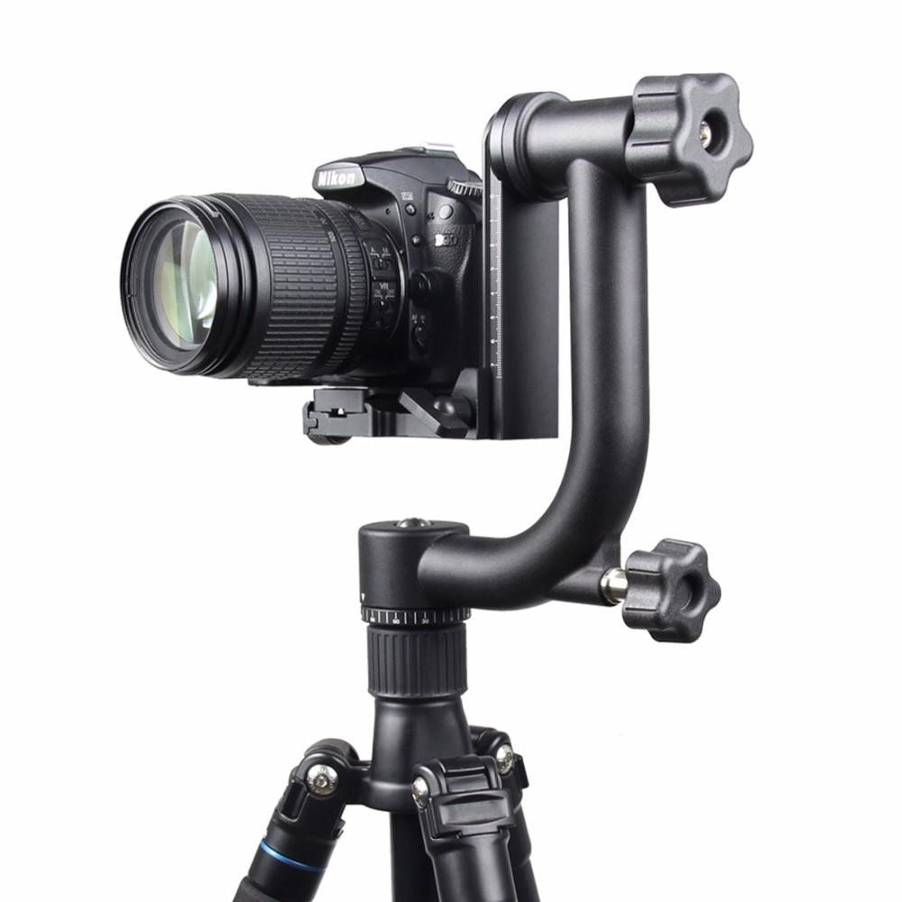 лучшая цена YELANGU Horizontal 360 Degree Panoramic Gimbal Tripod Head for Nikon Canon SONY Samsung Digital SLR Camera and Home DV