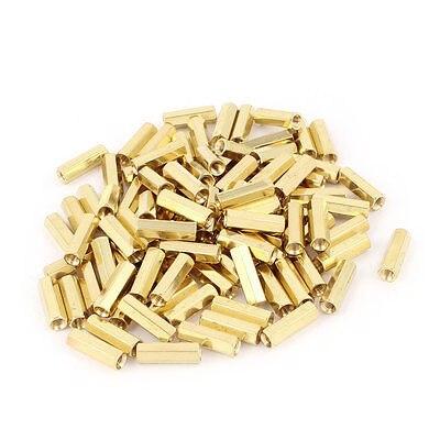 100pcs M3 Female Thread Insulated Brass Standoff Hexagonal Spacer 15mm Long