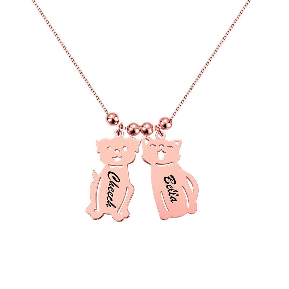 AILIN personnalisé gravé nom Date bébé garçon fille chien chat collier perles charme chaîne pour femmes enfant anniversaire famille cadeau - 2