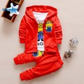 Children's Clothing  Suits 2017 Kids Boys Clothes Autumn 2017 New Fashion Cotton Cartoon 3pcs  CoatT-shirt Pants T2693