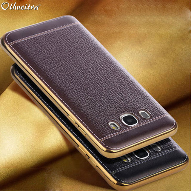 new concept b4b0d cd345 US $1.89 5% OFF|Luxury Fundas For Samsung Galaxy J7 2016 J710 Case Back  Cover TPU soft Silicone mobile Phone Case For Samsung J7 2015 PU Leather-in  ...