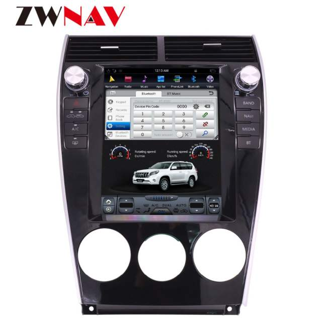 ZWNVA Tesla style IPS Screen Android 6 0 Car DVD Player Car Radio GPS  Navigation For Mazda6 Mazda 6 2002-2015