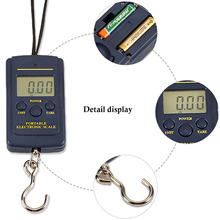 Luggage scale 0.01g-40kg Hanging type LCD screen display Black plastic Kitchen Scale Cute and practical Digital
