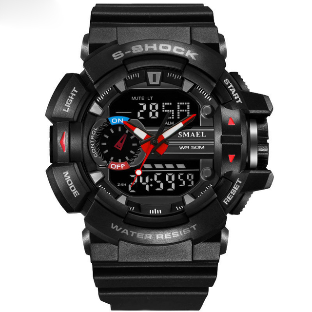 De lujo de Primeras Marcas Para Hombre Relojes Deportivos de Buceo 30 m Electrónica Digital LED Reloj Militar Hombres Moda Casual Reloj de Pulsera Caliente
