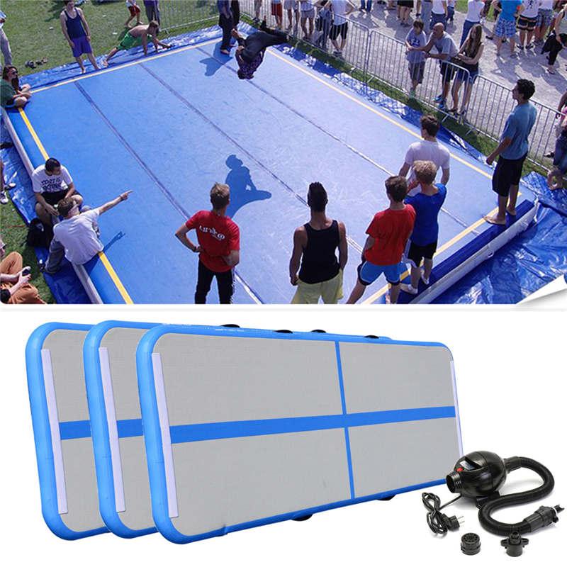 High Quality Portable 0.9*3m Inflatable Tumble Track Trampoline Air Track Taekwondo Gymnastics Inflatable Air Mat with 220v Pump hot sale inflatable air tumble track gymnastics for sale