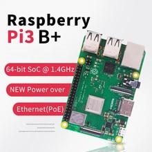 Em estoque raspberry pi 3 modelo b mais rpi 3 b plus com 1 gb bcm2837b0 1.4 ghz braço Cortex-A53 suporte wi-fi 2.4 ghz e bluetooth 4.2