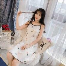 Новая ночная рубашка женская летняя с коротким рукавом имитация шелка ночные рубашки Милая домашняя ночная рубашка ночная сорочка с коротким рукавом