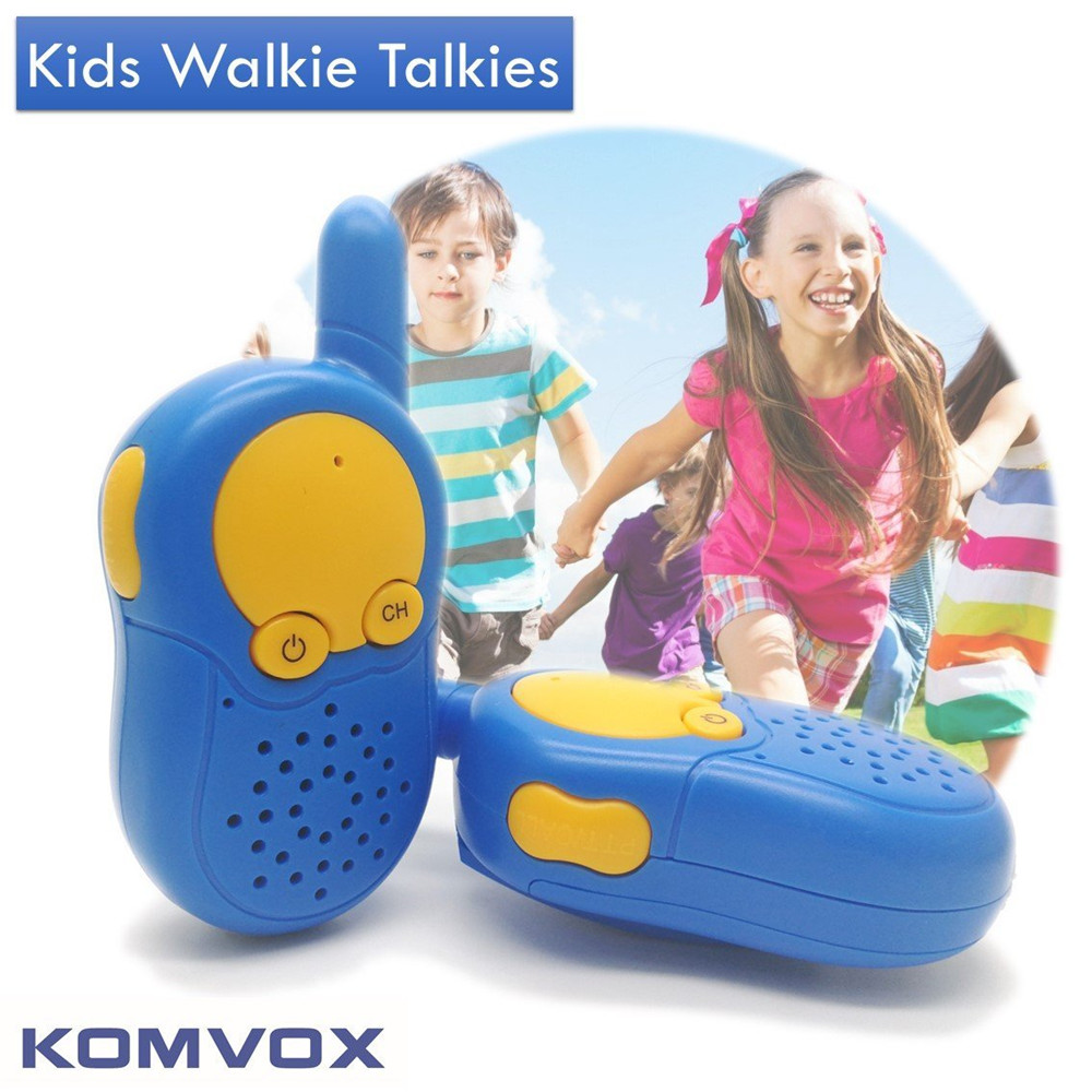 2 PCS Talkie Walkie Jouet Enfant Enfant Mini De Poche Gadget Électronique Portable Deux-Way Radio Interphone Sans Fil
