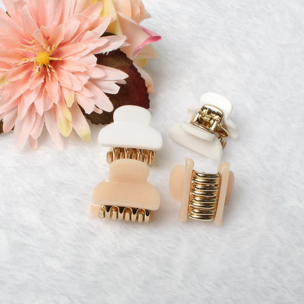 2cm Hair Claw Fashion Hair Accessories Mini Acrylic Hairpins Gripper Korean Children 4 Claws Small Plastic Hair Clip Clamp