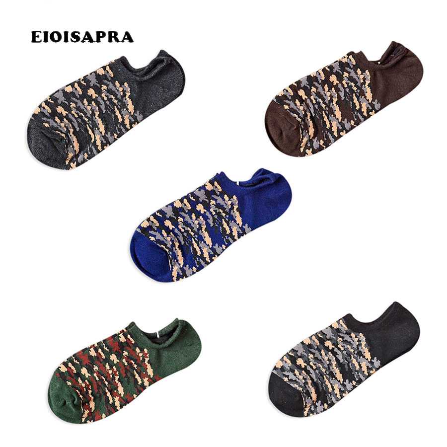 [EIOISAPRA]Style Pattern Men Design Happy Socks Men Harajuku Novelty Funny Socks Colorful Short Calcetines Hombre