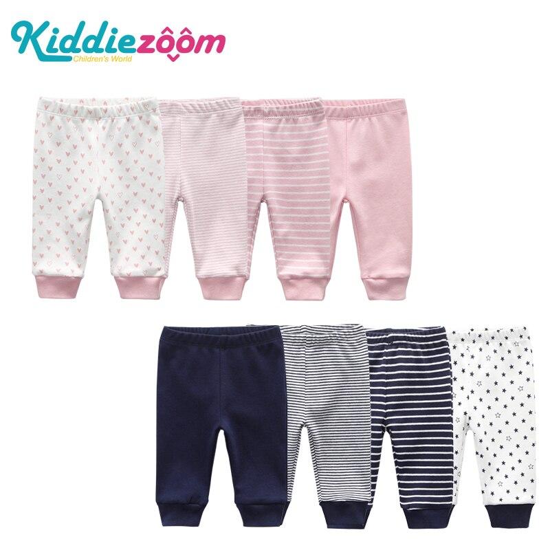 Elastic-Waist Pants Baby-Trousers Cartoon-Pant Newborn-Baby Infant 100%Cotton Unisex