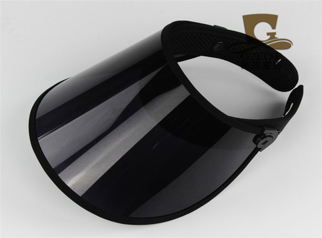 new UV protection clear plastic sun visor cap bicycle outdoor wide brim hat  PVC Hat -- ONLY BLACK Color d7e24a1935f