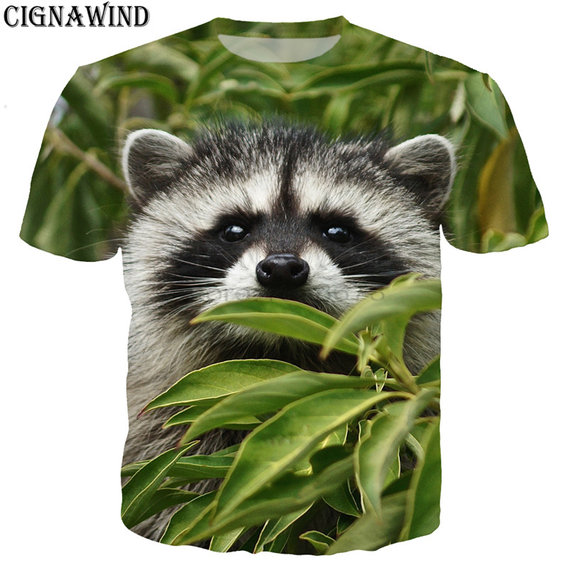 dffd3085f Detail Feedback Questions about New funny t shirts men/women Cute Raccoon  Puppy Animals 3D printed t shirt Short sleeve Harajuku style tshirt  streetwear ...