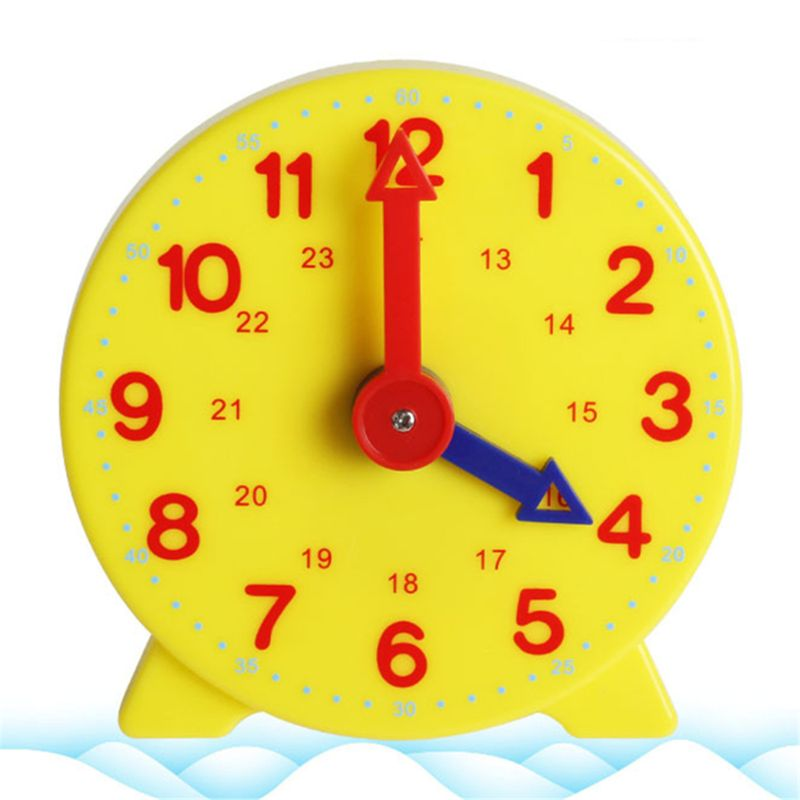High Quality Montessori Student Learning Clock Time Teacher Gear Clock 4 Inch 12/24 Hour