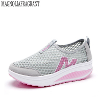 spring and summer shoes, casual shoes slope with low to help set foot breathable mesh platform shoes shook his shoes w460