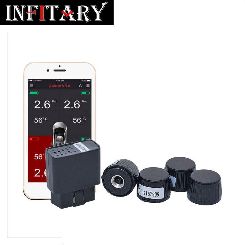 Здесь можно купить   TW500 2017 TPMS bluetooth Mobile phone APP display Tire Pressure Monitoring System with 4 external sensor support OBD Interface Автомобили и Мотоциклы